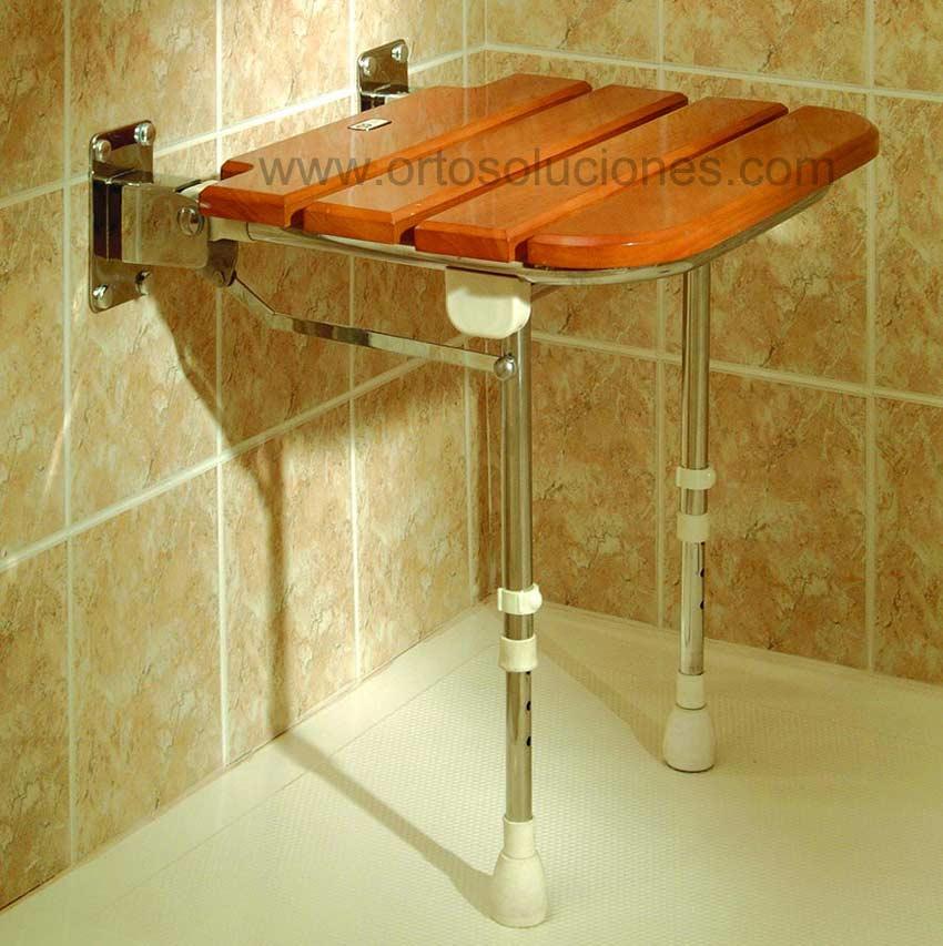 Imagenes De Baño De Asiento:Asiento abatible de madera