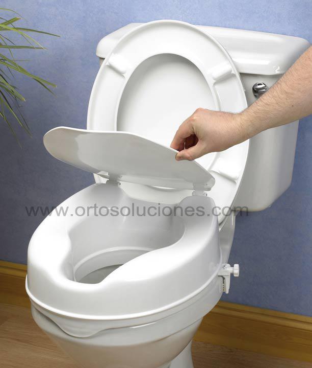 Alza de wc 15 cm con tapa