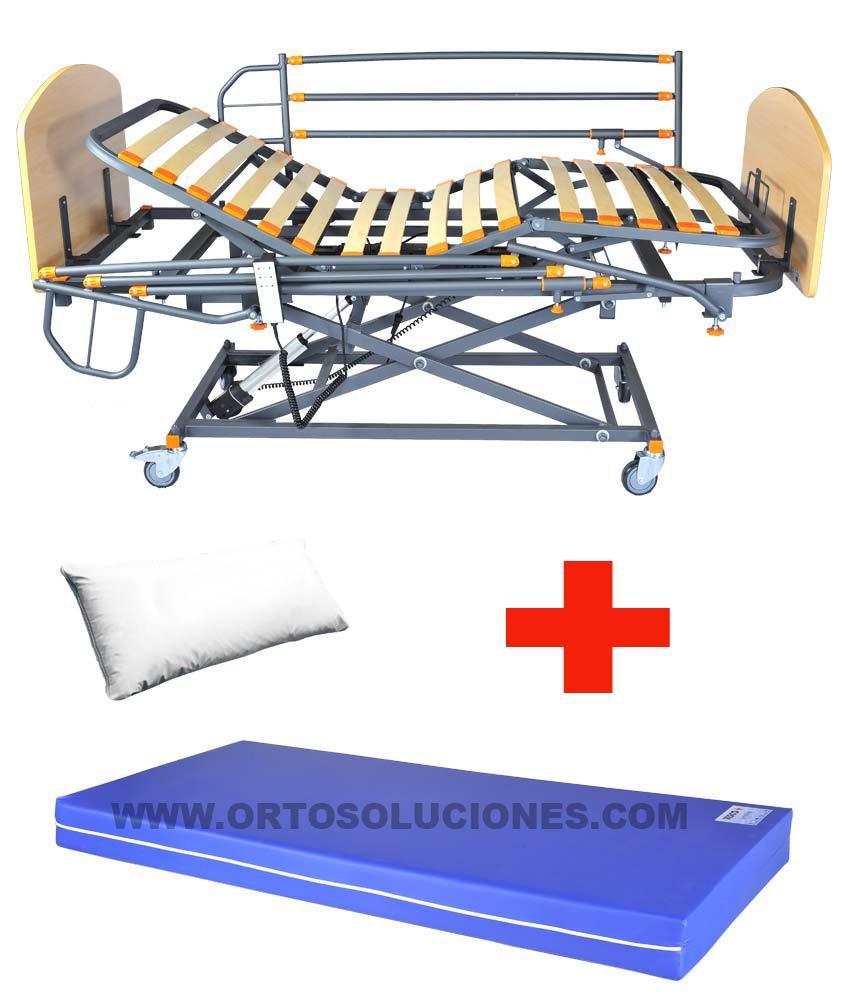 Cama elevable GERIA FULL GS con barandillas y colchón