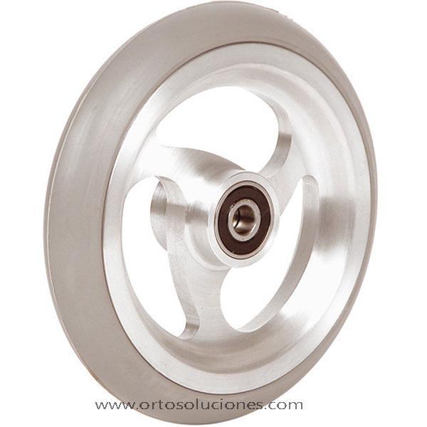 Rueda de aluminio goma gris