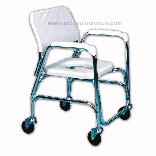 Silla para ducha y wc orto soluciones for Sillas para orinar ancianos