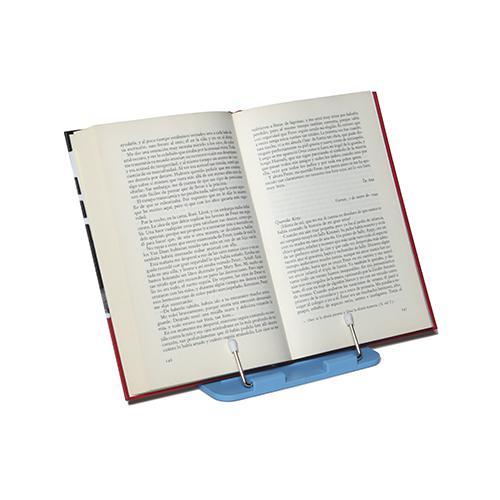 Sujeta libros plegable azul