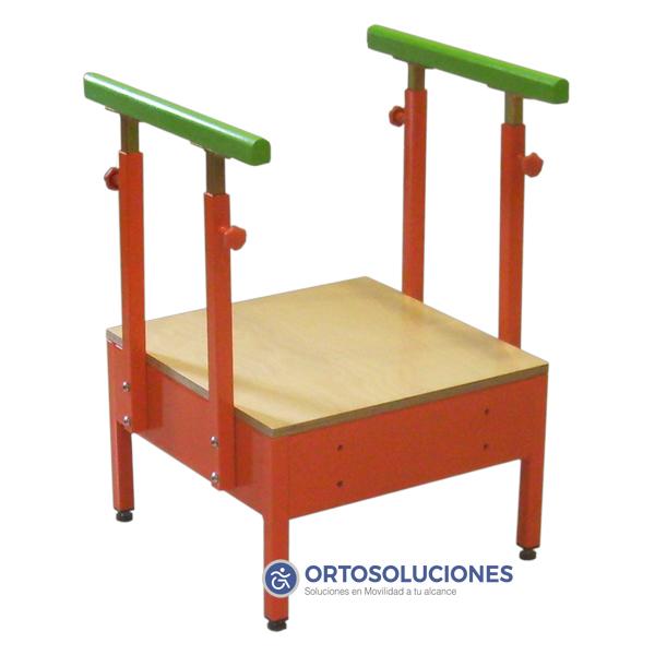 Escalera 3 pelda os con rampa infantil orto soluciones for Banqueta escalera 3 peldanos