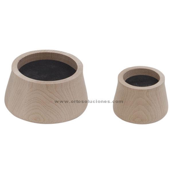 Conos elevación de madera de 5 cm
