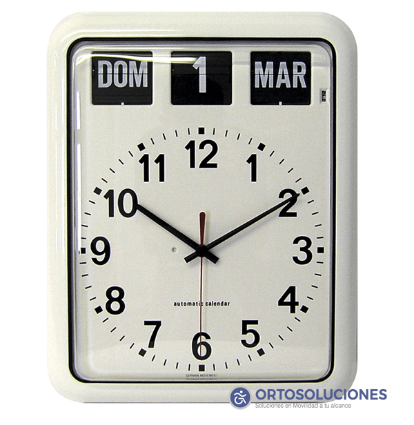 Reloj con calendario personas mayores