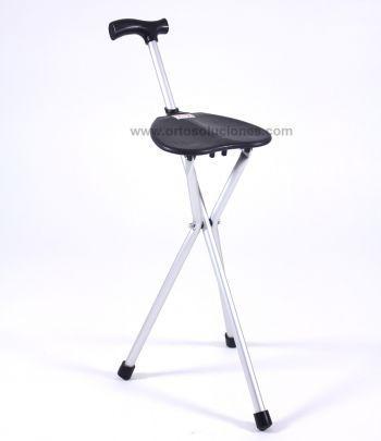 Bastón con asiento aluminio