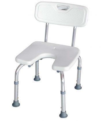 Silla de ducha con asiento en U