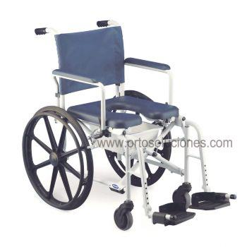 Silla plegable autopropulsable para ducha