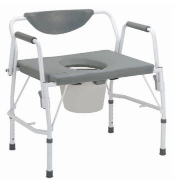 Silla WC Bariátrica Deluxe con brazos abatibles