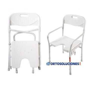 Silla plegable y regulable en altura