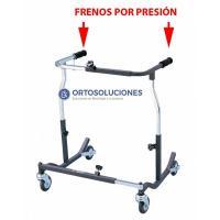 Andador para obesos con frenos por presión