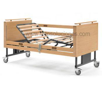 Cama elevalbe ANETO con barandillas de madera