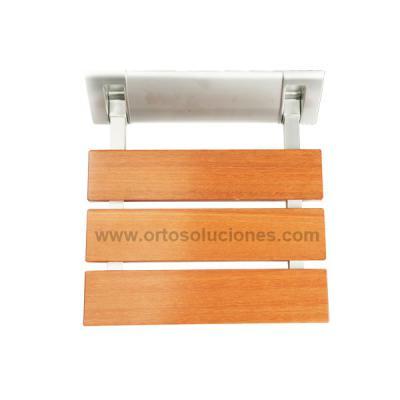 Asiento de ducha de madera abatible
