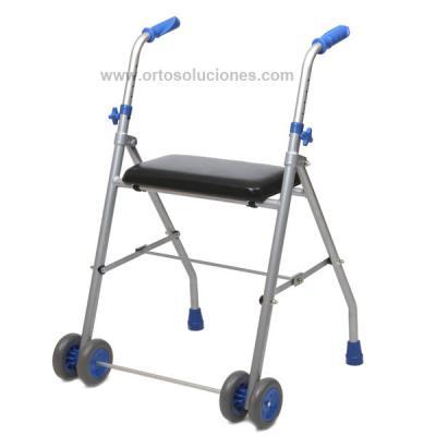 Andador 2 ruedas aluminio