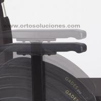 Silla de ruedas de acero GADES VARIO ruedas 600 mm