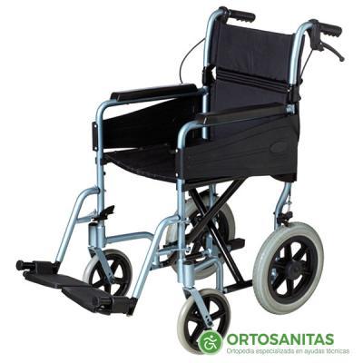 Silla de ruedas plegable de aluminio PL80