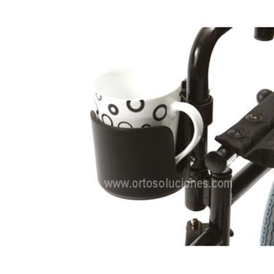 Porta taza para silla de ruedas