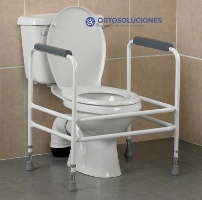 Reposabrazos auxiliares inodoro para obesos