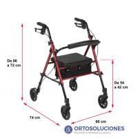 Rolator asiento regulable altura Hi Low AD152