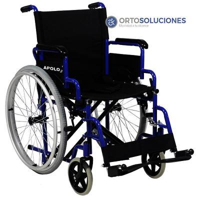Silla de ruedas plegable apolo 3 ruedas 600 mm