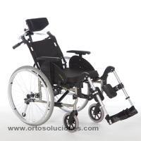 Silla de ruedas de aluminio GADES GAP ruedas 600 mm
