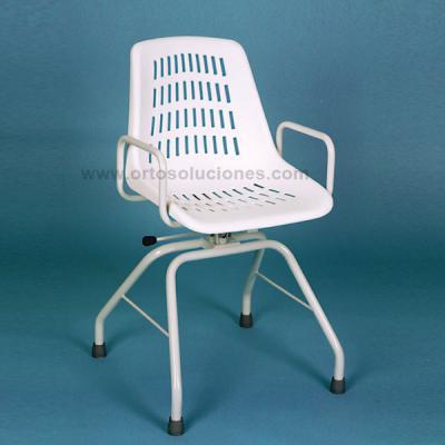 silla giratoria de acero inoxidable
