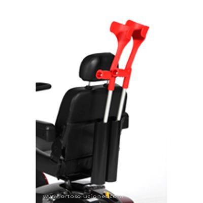 Porta bastón doble para sillas eléctricas ayudas dinamicas