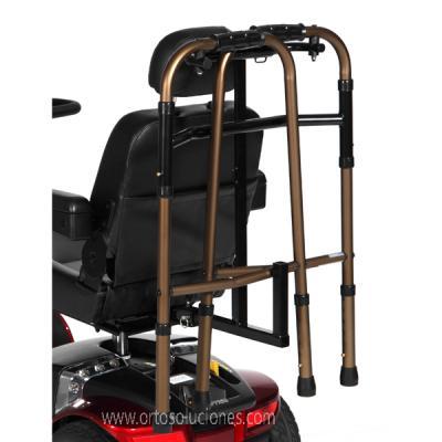 Porta caminador para sillas eléctricas ayudas dinamicas