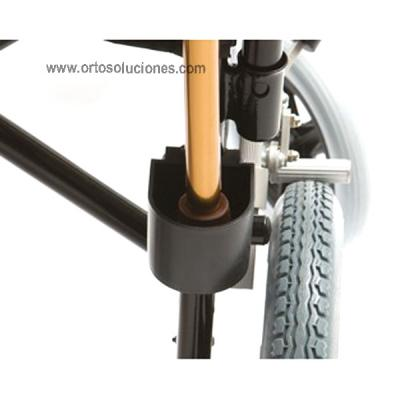 Porta bastón para silla de ruedas