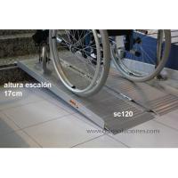 Rampa plegable aluminio