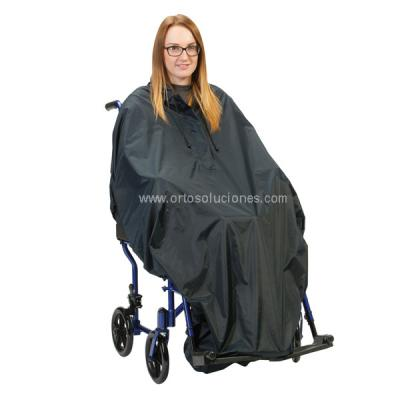 Poncho impermeable para sillas de ruedas