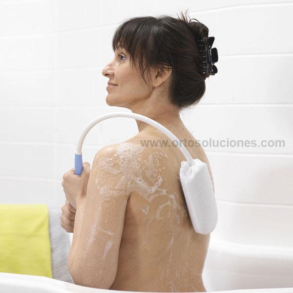 Esponja curvada para la espalda